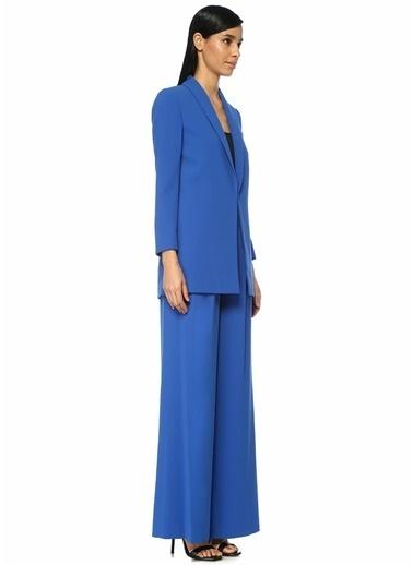Alice+Olivia Palazzo Yüksek Bel Pileli Bol Paça Pantolon Mavi